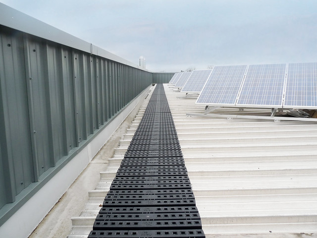 Roof Walkway For Safe Access To Rooftop Solar