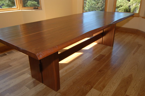 custom design woodworks » Blog Archive » Walnut Dining Room Table