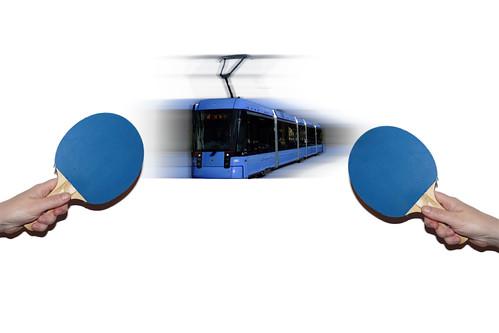 Variobahnpingpong zwischen TAB und MVG (Bild: Johannes Schumm, Daniel Schuhmann)