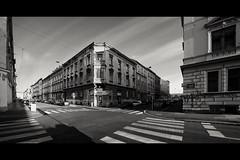Friday afternoon (elkarrde) Tags: street city sky panorama architecture blackwhite noiretblanc samsung croatia zagreb stitched schneider twop schneiderkreuznach ex1 tl500 samsungex1