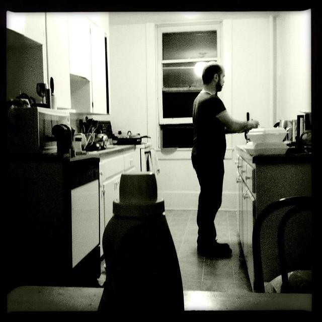 late-night tea-making