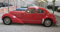 BUGATTI type 57C berline, 1939 (ClassicsOnTheStreet) Tags: classic car museum sedan thirties musee oldtimer bugatti 1939 berline schlumpf mulhouse automuseum redcars gespot 57c carspot collectionschlumpf automobielmuseum schlumpfcollectie