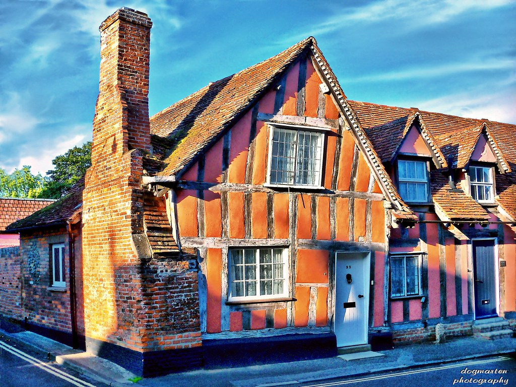 Flemish Weavers' Cottages, Lavenham
