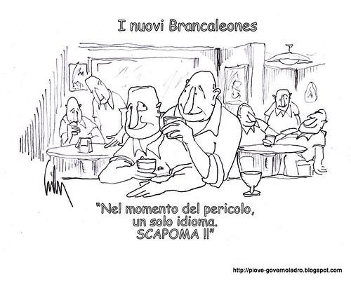 Berlusconi fugge a Bruxelles per evitare i giudici by Livio Bonino