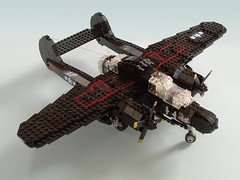 P-61B Black Widow (2) (Mad physicist) Tags: lego military wwii blackwidow northrop p61 nightfighter p61b