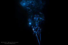 """Smoke - 1"" [[[EXPLORED]]] (Saad Solaiman) Tags: blue light white black art contrast ancient pattern purple patterns smoke arts half saad blueblack swivel solaiman blackblue ringexcellence"