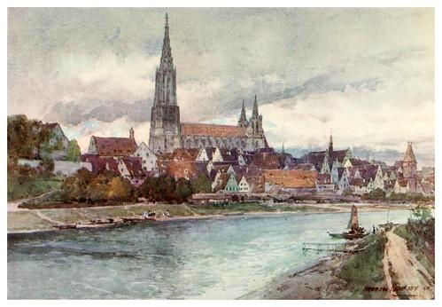 006- Ulm catedral al lado del Danubio-Germany-1912- Edward y Theodore Compton ilustradores