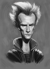 Sting Sketch (Mark Hammermeister) Tags: illustration photoshop movie sketch sting dune humor digitalpainting scifi caricature sciencefiction thepolice