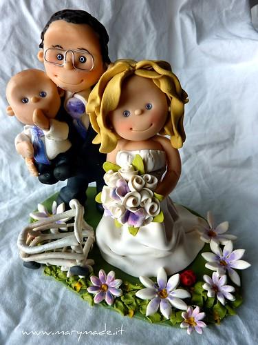 Il caketops di Valentina, suo marito e figlio piccolo, una creazione marymade.it, prodotto da Mary Tempesta, foto su Flickr