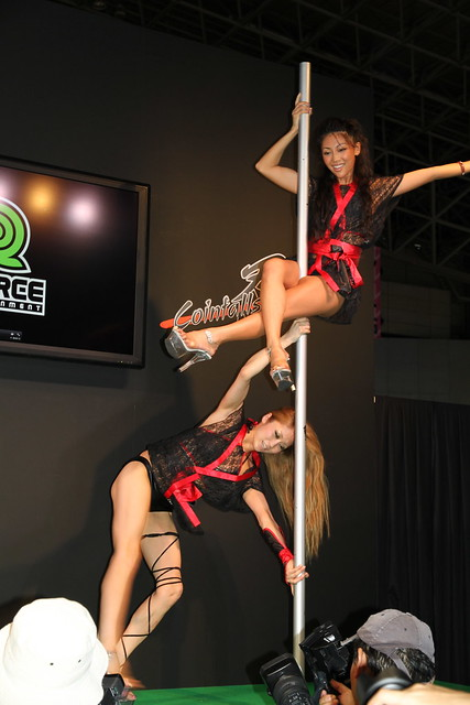 Tokyo Game Show 2011 Pole Dancers