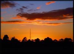 (Marie EG) Tags: autumn sky sunlight tree silhouette clouds skne sweden september trelleborg sdersltt