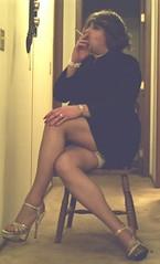 blkmini4 (didi_lynn) Tags: sexy highheels sandals cigarette smoke jewelry pearls crossdressing hose smoking tgirl upskirt hosiery stiletto miniskirt pantyhose crossdress gurl platforms tg stilettos businesssuit sexylegs longlegs stilettoes nylons shortskirt rednails pearlnecklace longnails anklebracelet vs120