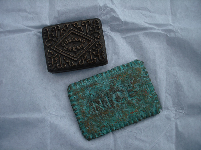 Custard cream and Nice bronze by Elaine Allison