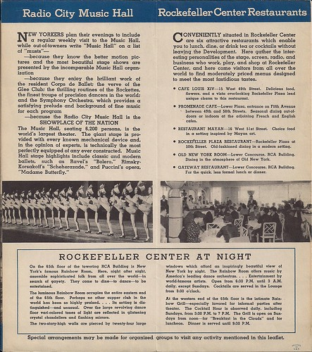 1940's Era Rockefeller Center-Radio City Brochure0003