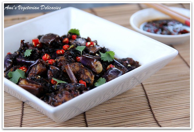 Stir Fried Eggplant in Spicy Chili Sauce