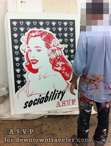 ASVP sociability poster street art