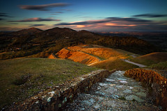 Return To The Malvern Hills (Antony....) Tags: sunset cold brick wall geotagged rocks path windy hills malvern rabbits pathway malvernhills leefilters bigstopper geo:lat=5205868017539043 geo:lon=2350454628059765