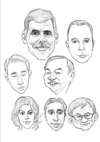 digital group caricatures of CSC - 1