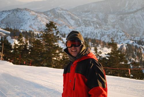 Tony at Mt Yokote