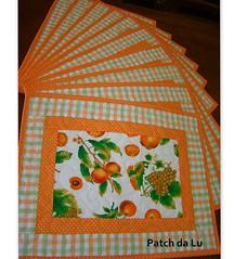 Jogo americano frutas (Patch da Lu) Tags: patchwork jogoamericano toalhaamericana
