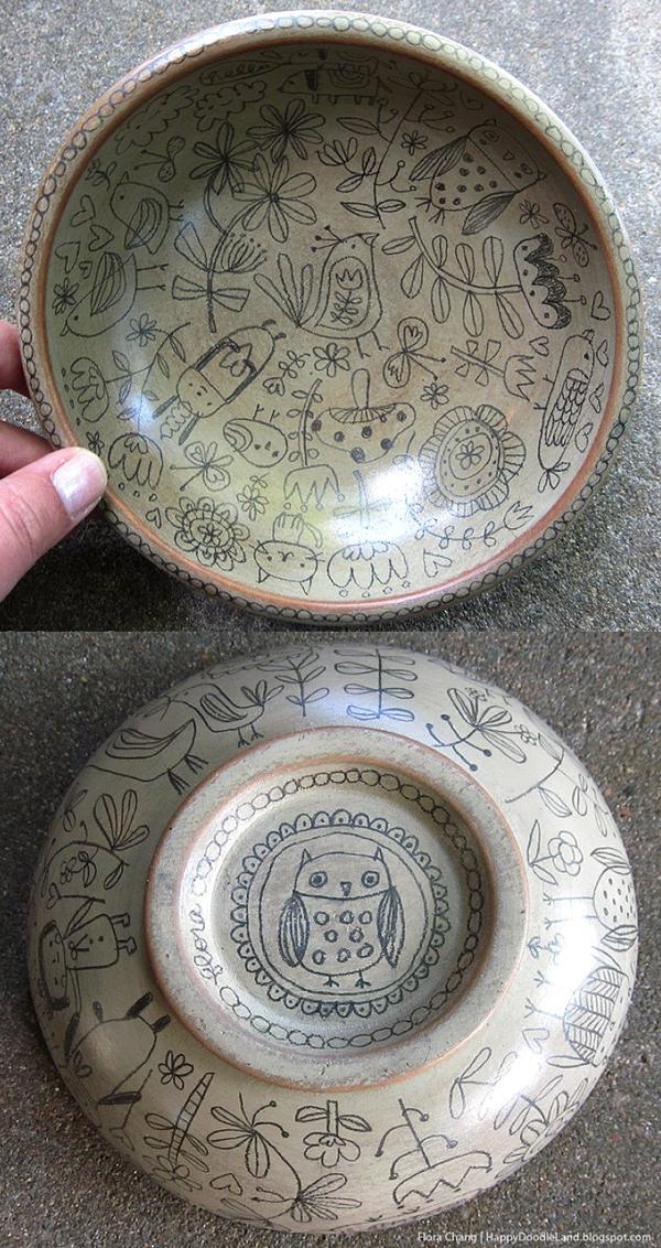 Wooden Doodle Bowl for Art Unleashed