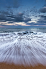 """Drawn"" - Warriewood Beach (Luke Peterson Photography) Tags: colour water waves dusk washing 1022mm warriewoodbeach canon7d"