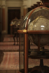 Fenced Globes- Queens College Library, Oxford (brandy_shot) Tags: uk england college architecture vintage book globe university earth antique library queens oxford series scholar gem volume astrolabe