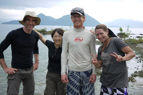 The cycle touring crew in Hokkaido, Japan