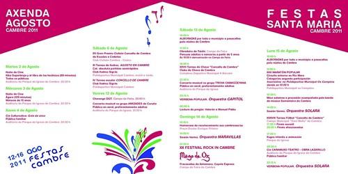 Cambre 2011 - Festas de Santa María - programa