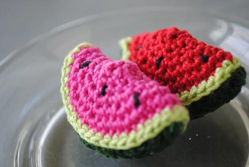 amigurumi watermelons