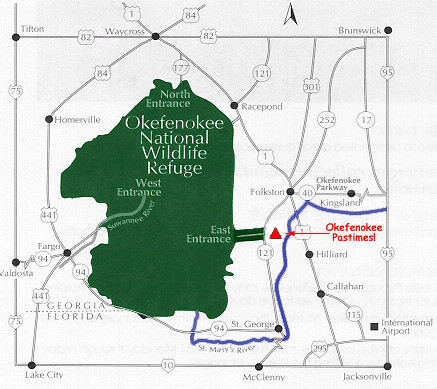 Okefenokee Fire Map.Okefenokee Area Map Okefenokee Comokefenokee Com