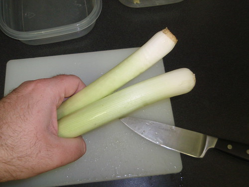 two small leeks