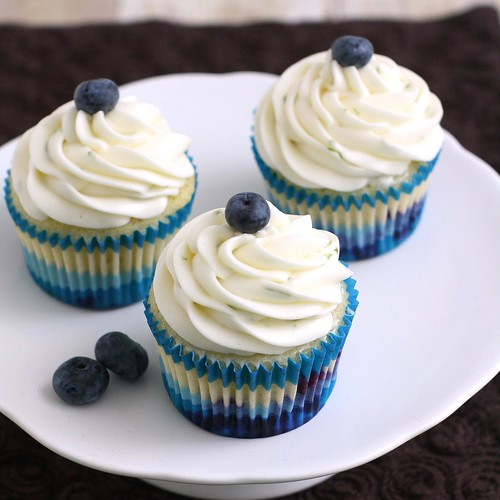 Blueberry Cupcakes with Lime Cream Cheese Frosting | Tracey's Culinary ...