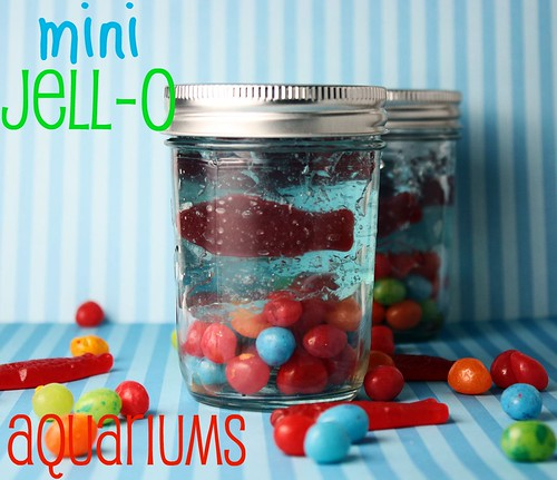These Mini Jell-O Aquariums are the perfect treat to put together with ...