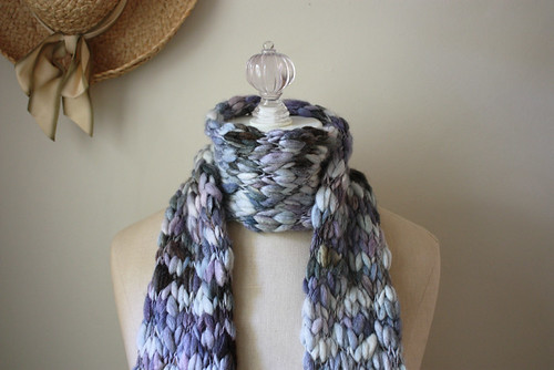 Winter walk handspun scarf