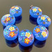 Set : Blue Flower Blossom Flat Lentil