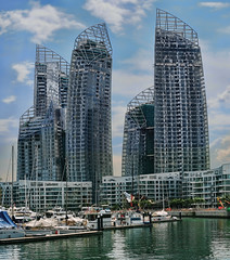 Reflections @ Keppel Bay... (williamcho) Tags: holiday architecture club marina relax boats construction apartment ngc resort highrise boating d300 keppelbay flickraward reflectionsatkeppelbay williamcho yachtscondos