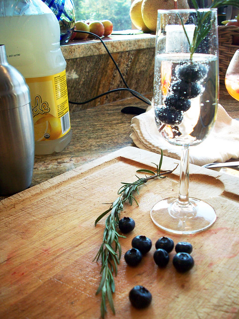 ... blueberries with the rosemary. Use the rosemary/ blueberry skewer to