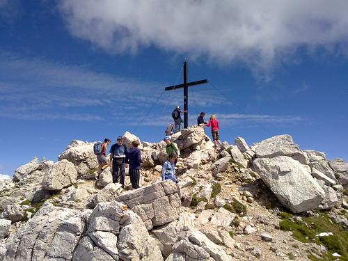 Das Gipfelkreuz auf dem Schlern