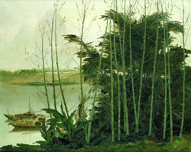 Wu Guanzhong_Scenery of the Lijiang River.jpg