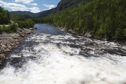 River Malbaie gushing forth