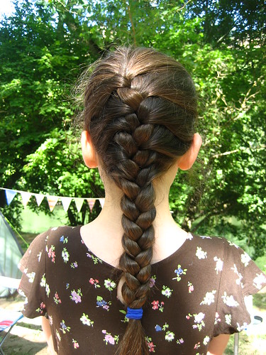 Practising French plaits