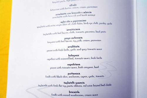 prego westin kl pasta menu