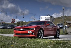 Powerful. (Patrice Minol) Tags: france rouge ss camaro bee transformers bubble alpe dhuez isre