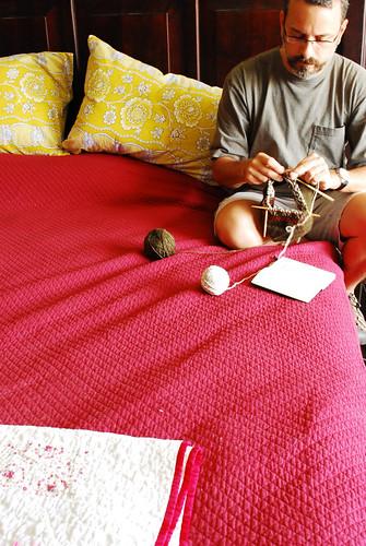 my knitting man
