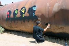 @ work (s0t) Tags: street stencil artist iran iranian icy sot tabriz