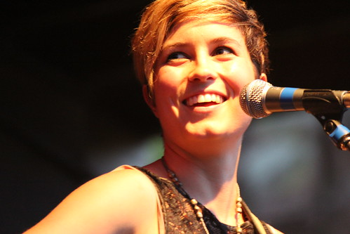 Missy Higgins close-up smile