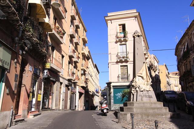 """The neighborhood """"Marina"""" in Cagliari."""