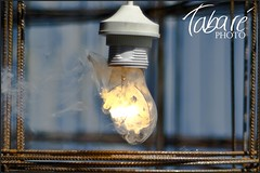 Test subject 9 (Tabar Neira) Tags: light broken glass bulb fire wire break smoke explosion bullet fuego