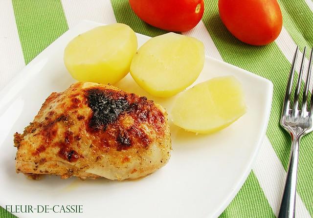курица в фольге 2 - вино-чеснок-орегано